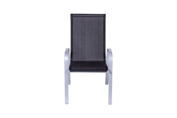 Baštenska stolica crno-siva Ancona - 046994