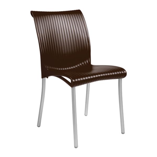 Stolica plastična Regina colori Braon